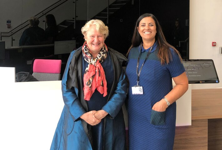 Helen Goodman MP and Brenda McLeish, CEO of Learning Curve Group