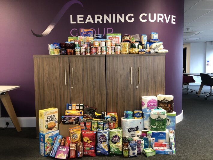 Learning Curve Group Foodbank Donation